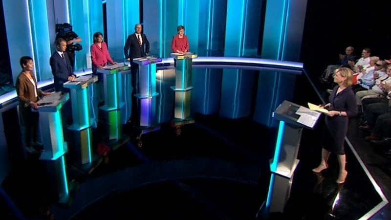 British opposition leaders debate without May, Corbyn