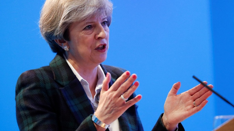 May to play Brexit card as poll lead shrinks