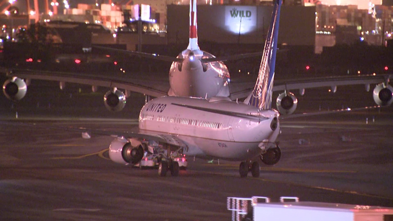 Newark airport closed after United Airlines engine fire
