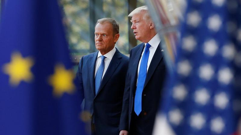 VERBATIM: EU, Trump at odds on trade, Russia