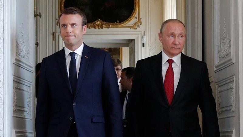 INSIGHT: Macron welcomes Putin at Versailles