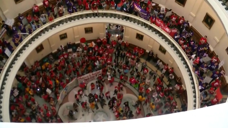 Texas statehouse erupts into chaos, alleged threats
