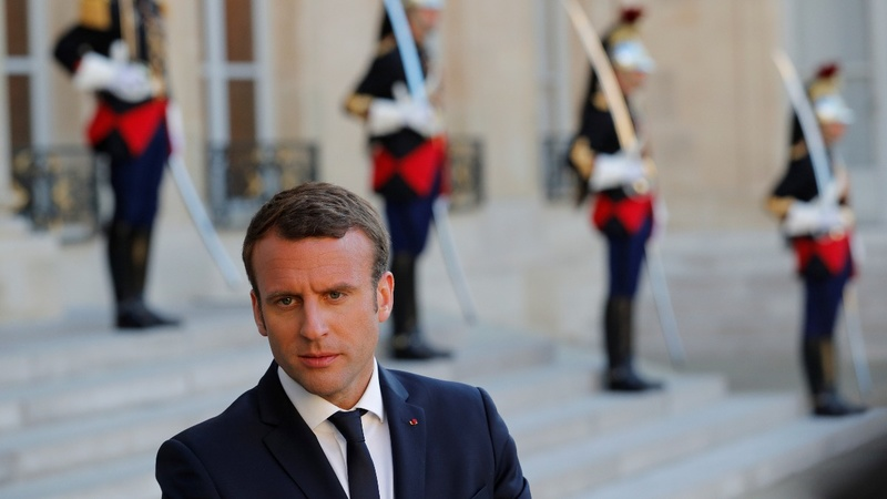 Scandal, Putin, Trump: Macron's whirlwind first two weeks