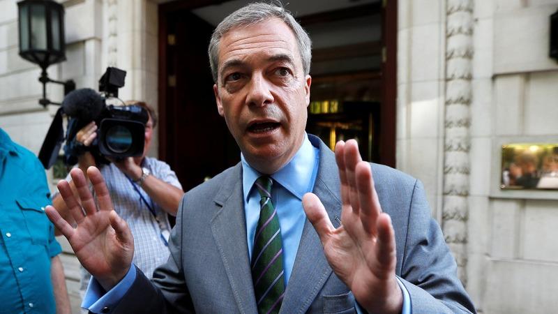 VERBATIM: Farage calls FBI probe link 'fake news'