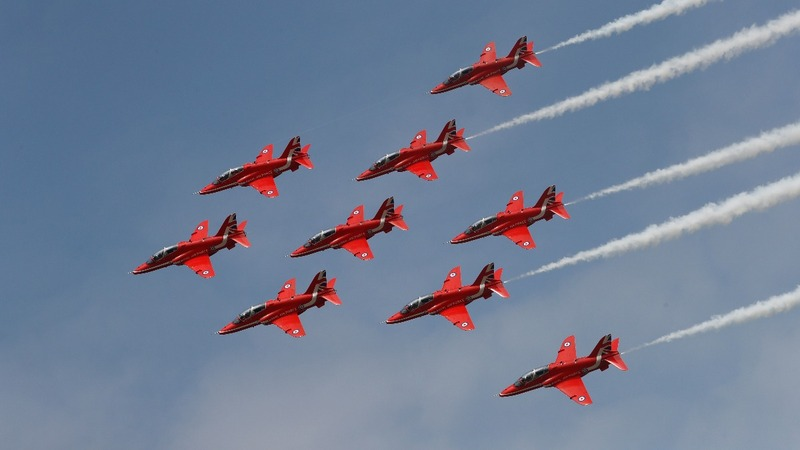 INSIGHT: Footage captures Red Arrows display