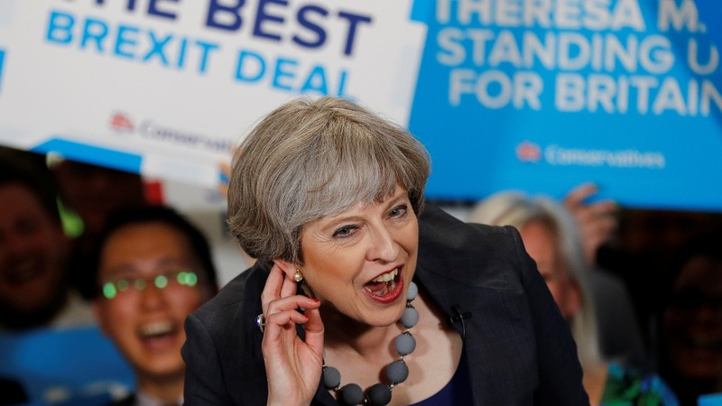 UK PM May hit by poll plunge