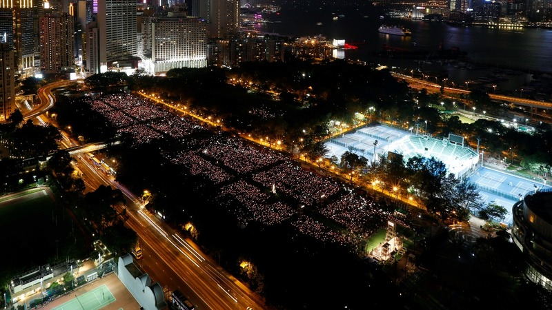 Hong Kong marks 28 years since Tiananmen massacre