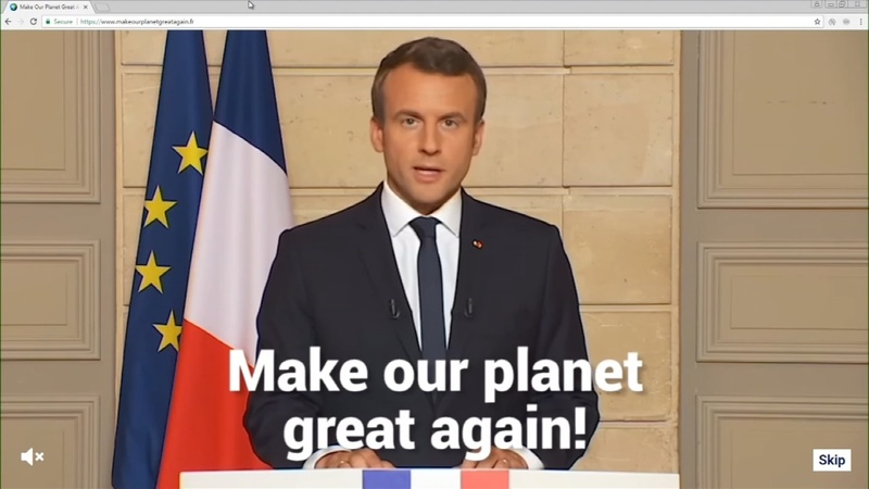 France jabs Trump by wooing climate scientists