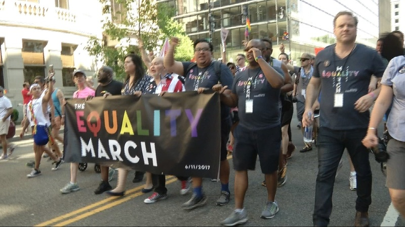 Marches urge Trump to support LGBT rights