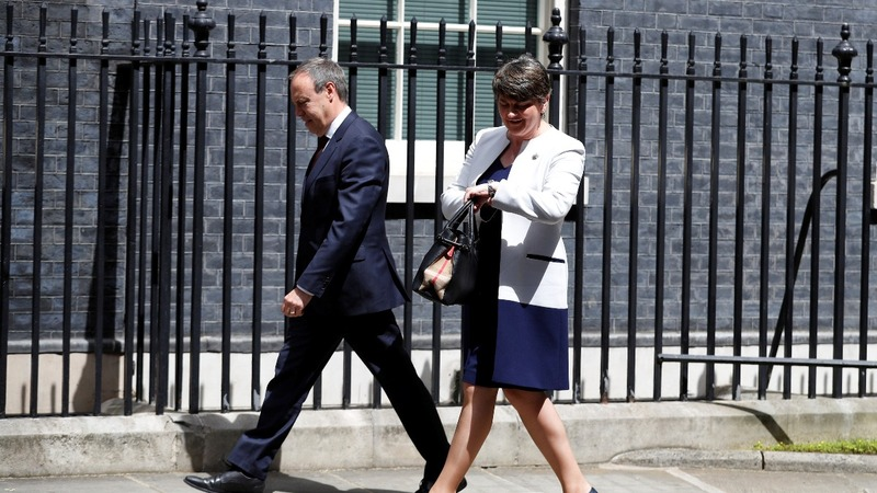 May meets DUP kingmakers, deal seen