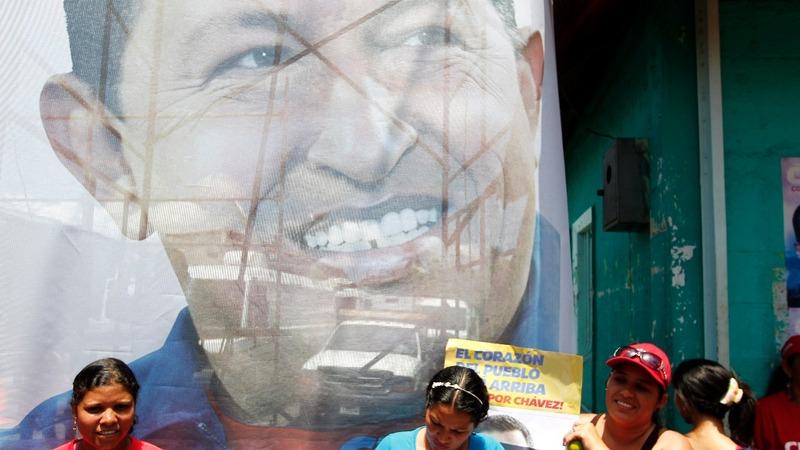 Venezuelans protest in Chavez's hometown