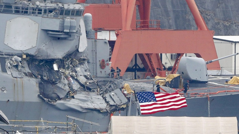 Bodies found on board damaged U.S. destroyer