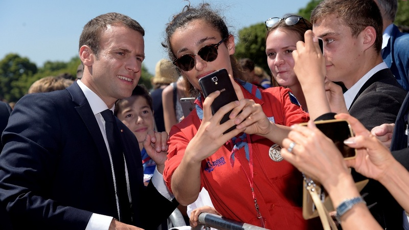 French president set for parliamentary majority