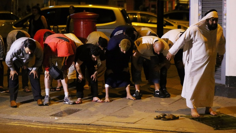 One dead after van rams pedestrians in north London