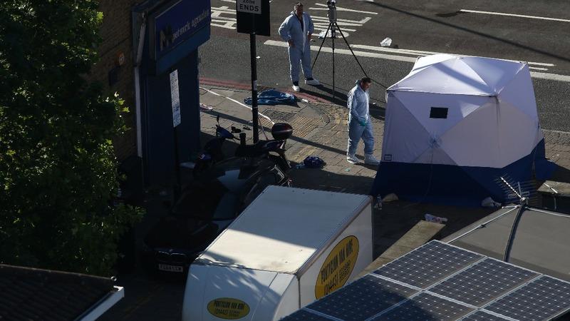 Van attack injures pedestrians near London mosque