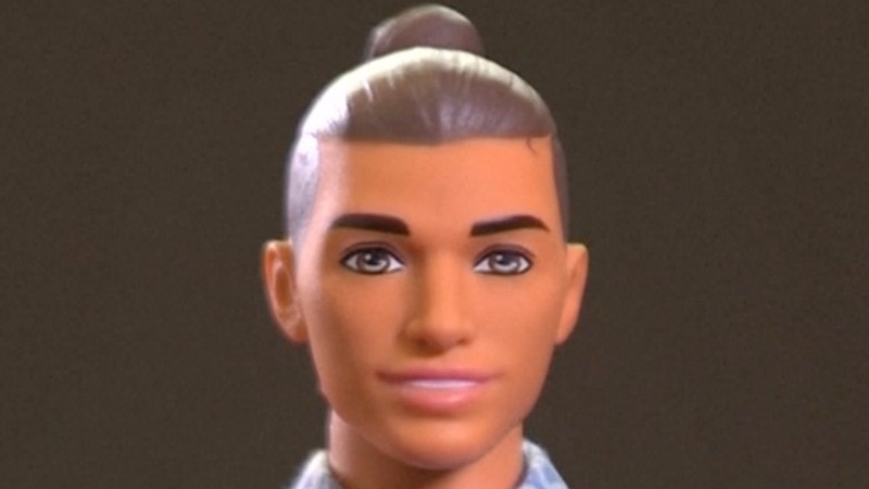 Ken doll gets a makeover, 'man bun' and all