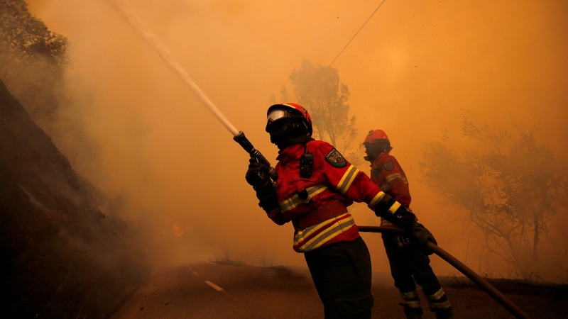 In pictures: Battling Portugal's deadly fire