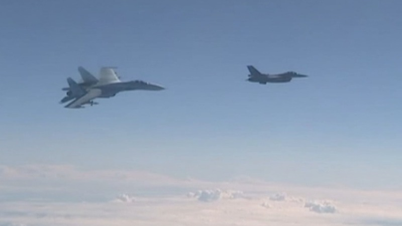 NATO jet 'buzzes' Russian defence minister flight