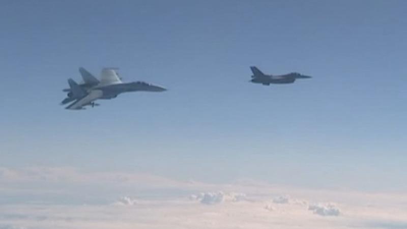 NATO jet 'buzzes' Russian defence minister flight