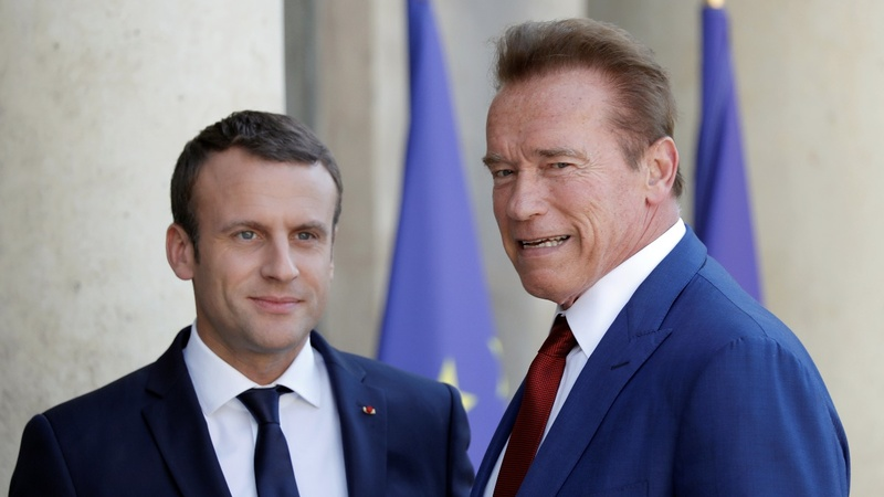 VERBATIM: Schwarzenegger meets Macron to talk climate change