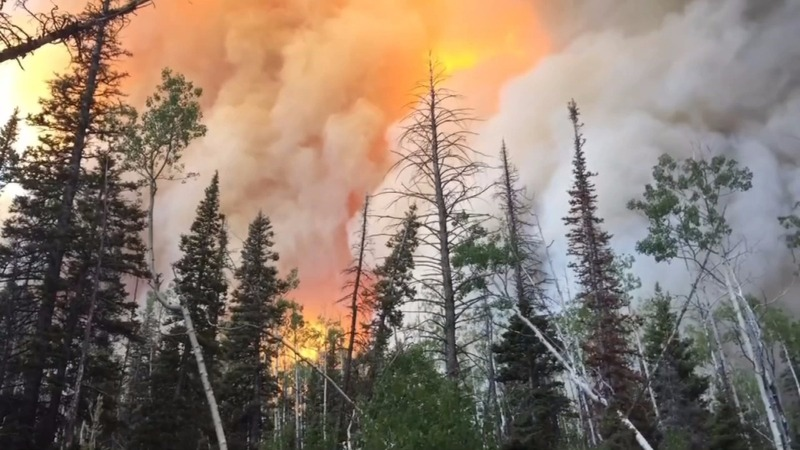 Massive Utah wildfire scorches 40,000 acres