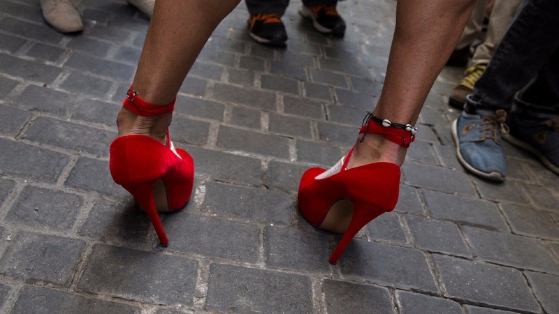 INSIGHT: Men in high heels race for gay pride