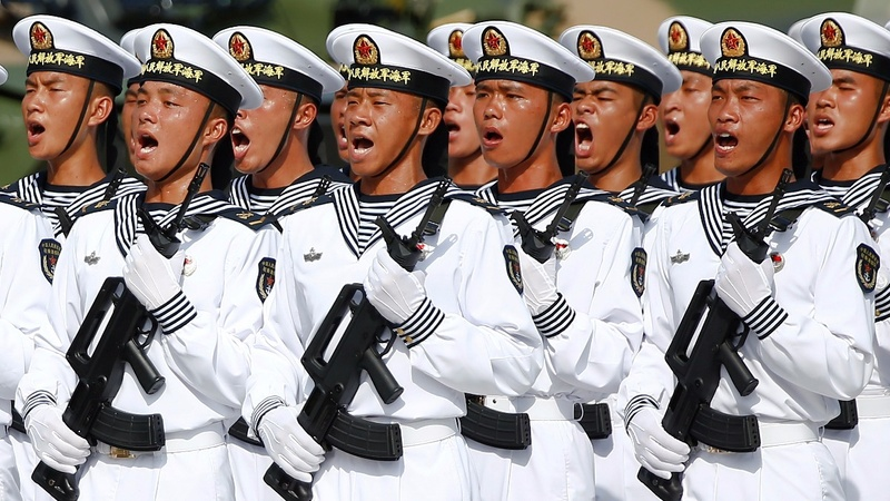 No lipstick or cocaine: Hong Kong's army celebrations