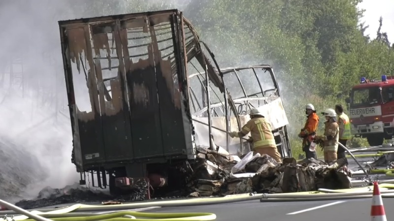 Many feared dead in German bus crash