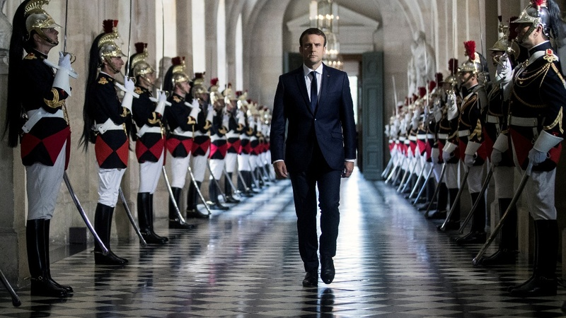 Macron sets mandate at Sun King's palace