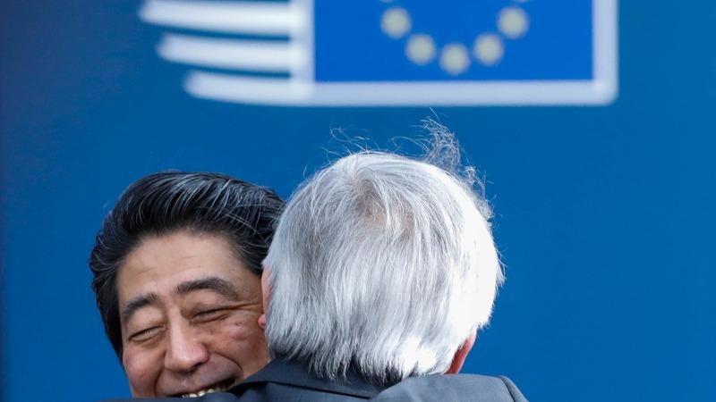 EU, Japan tout free trade deal