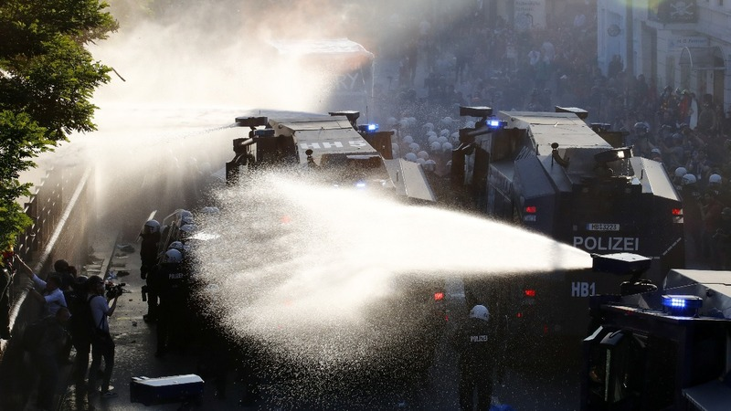INSIGHT: German police clash with G20 protesters