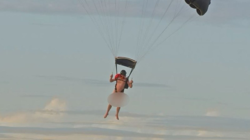 INSIGHT: Skydiving naked for your country