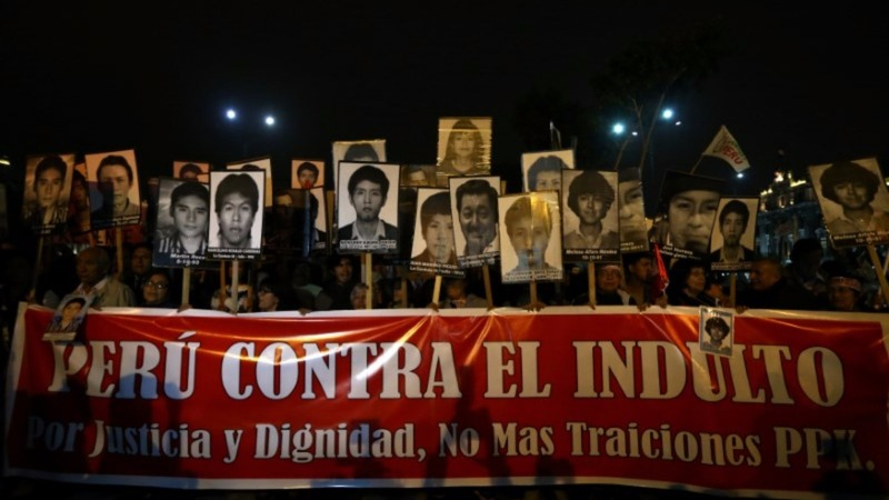 Peruvians protest against possible Fujimori pardon