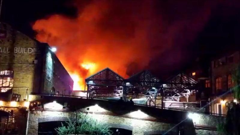 INSIGHT: Fire blazes through iconic London market