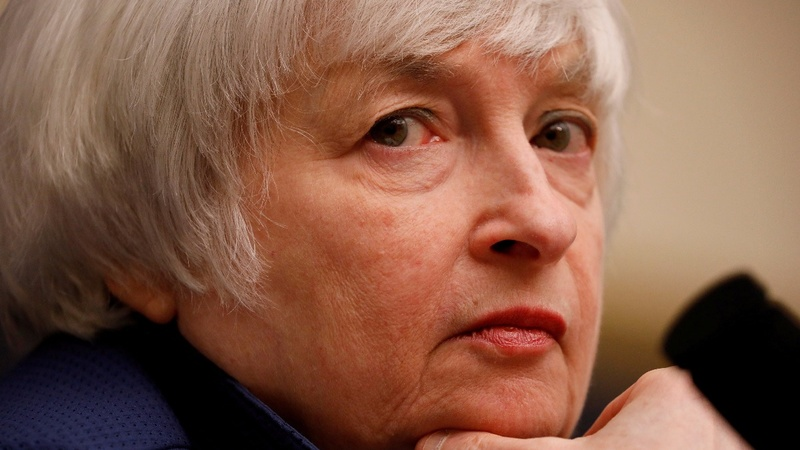 Yellen sticks to plan though her future is in doubt