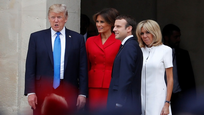 France's Macron welcomes Trump to Paris