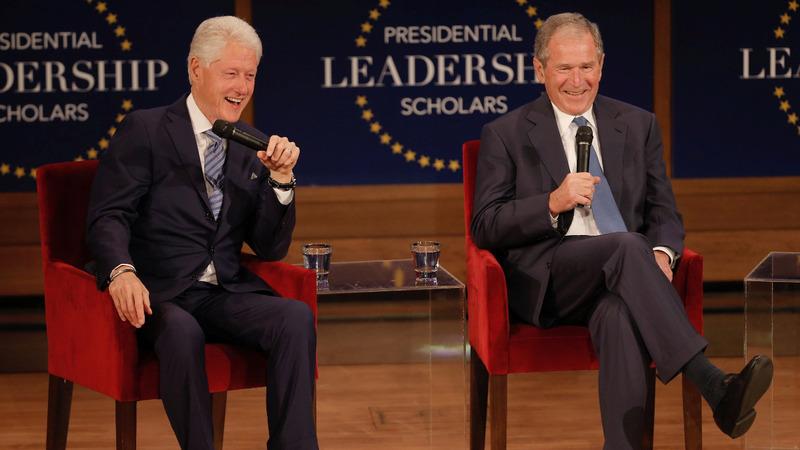 VERBATIM: Bush and Clinton talk 'arrogance' in office