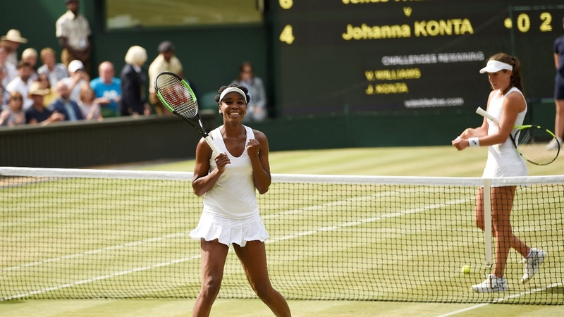 Venus Williams set for historic Wimbledon final