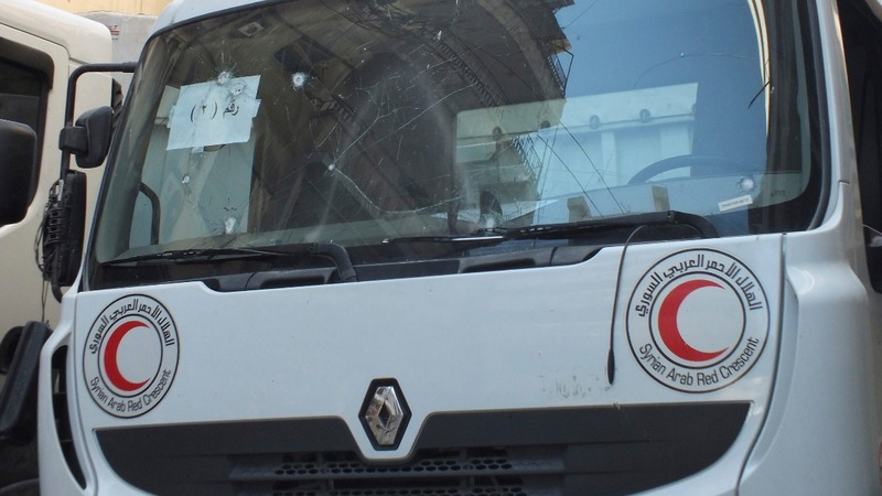 First aid convoy since June reaches Homs