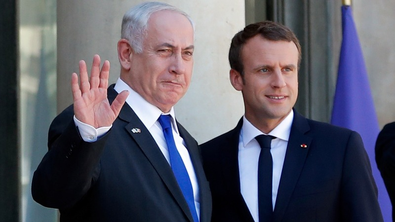 Macron urges resumed Israeli-Palestinian talks
