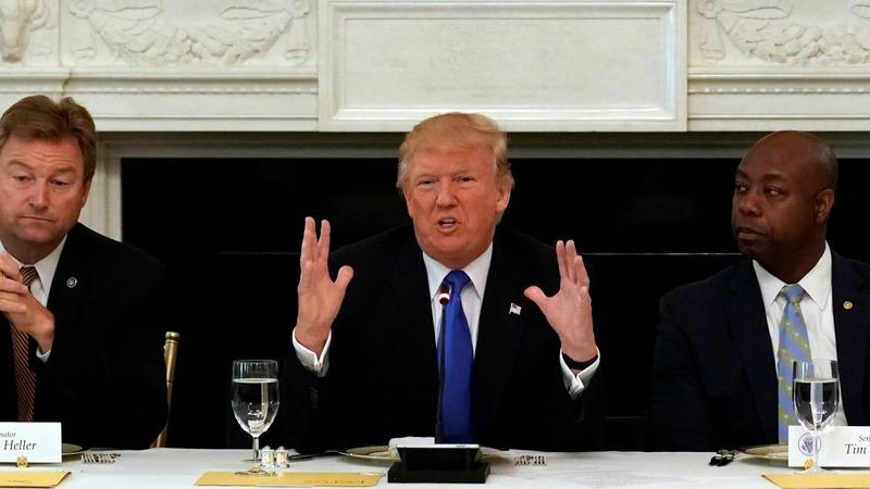 Trump lobbies GOP Senators on health care