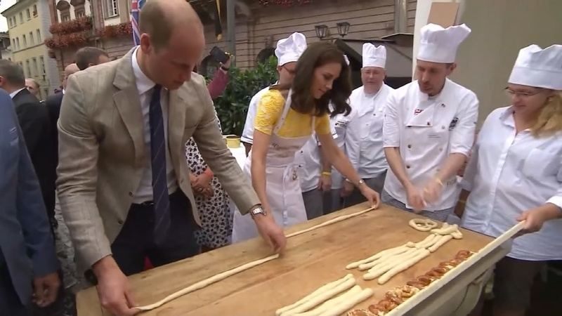 INSIGHT: William and Kate make German pretzels
