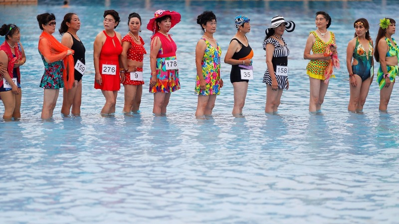 An exclusively over-55 bikini contest in China