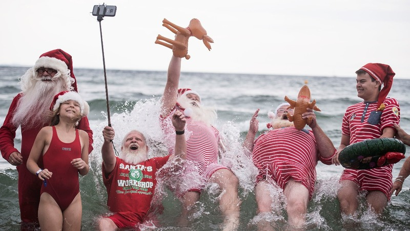 INSIGHT: Santas strip down in the North sea