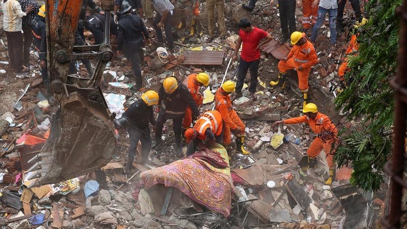 Death toll rises in Mumbai building collapse