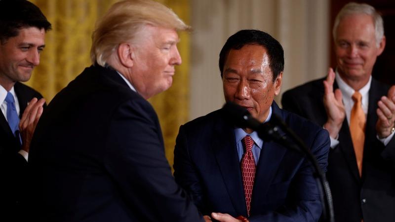 Trump and Foxconn announce $10 billion U.S. plant