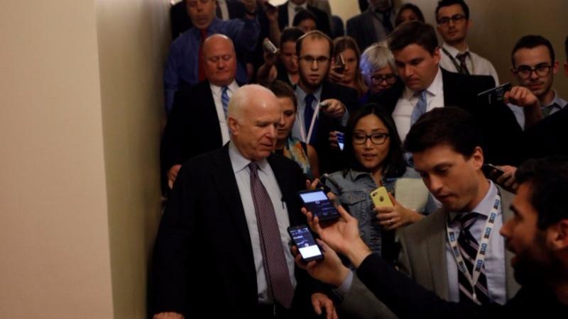 McCain's 'no'  vote kills Republican healthcare bill