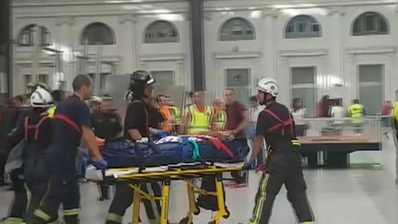 At least 54 injured in Spain commuter train crash
