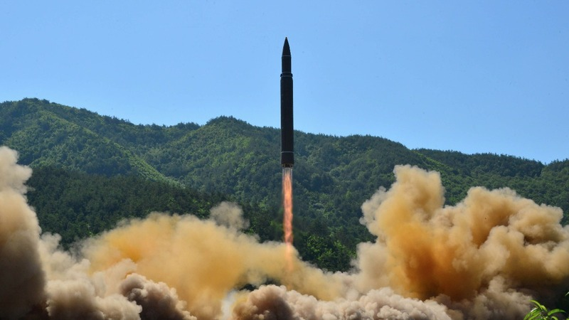 North Korea fires missile close to Japan