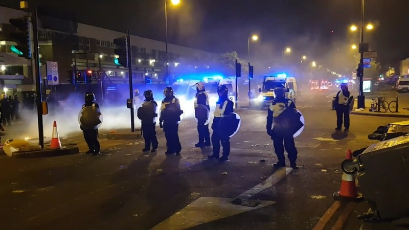 Clashes in London protest over detainee death